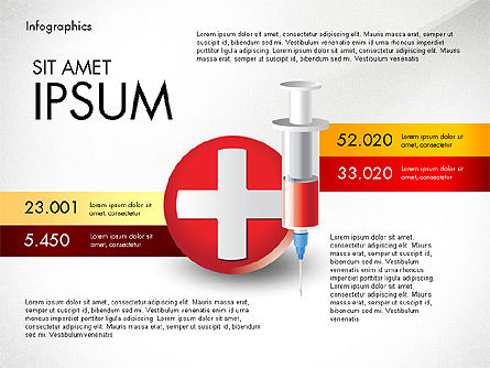Medical Infographic with Data Driven Charts, Slide 6, 02792, Medical Diagrams and Charts — PoweredTemplate.com