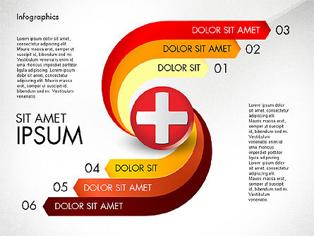 Medical Infographic with Data Driven Charts, Slide 7, 02792, Medical Diagrams and Charts — PoweredTemplate.com