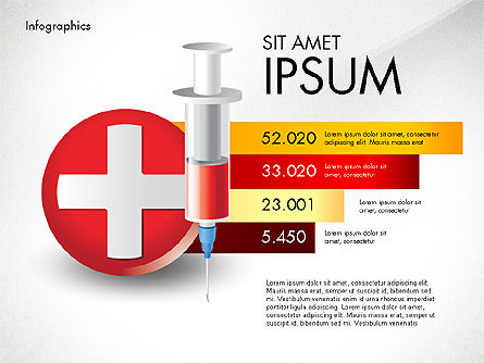 Medical Infographic with Data Driven Charts, Slide 8, 02792, Medical Diagrams and Charts — PoweredTemplate.com