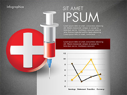 Medical Infographic with Data Driven Charts, Slide 9, 02792, Medical Diagrams and Charts — PoweredTemplate.com