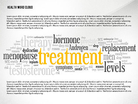 Medical Diagrams and Charts: Treatment Word Cloud Presentation Concept #02794