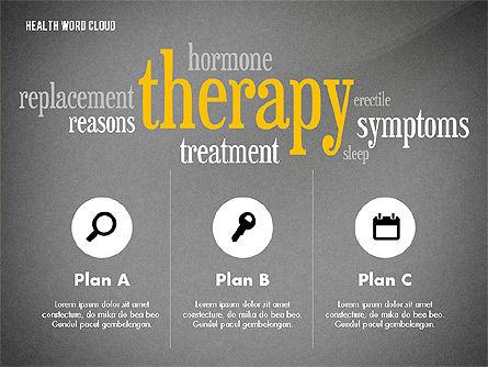 Treatment Word Cloud Presentation Concept, Slide 10, 02794, Medical Diagrams and Charts — PoweredTemplate.com