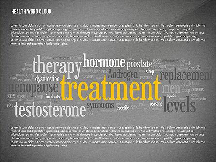 Treatment Word Cloud Presentation Concept, Slide 9, 02794, Medical Diagrams and Charts — PoweredTemplate.com