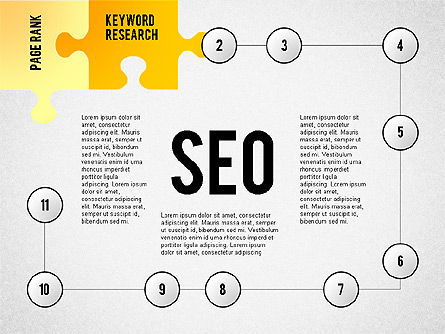 SEO Presentation with Puzzle Stages, Slide 2, 02796, Puzzle Diagrams — PoweredTemplate.com