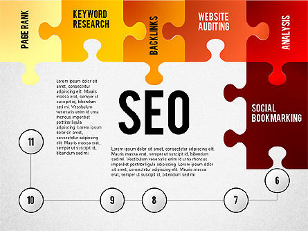SEO Presentation with Puzzle Stages, Slide 6, 02796, Puzzle Diagrams — PoweredTemplate.com