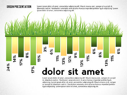Green Presentation with Data Driven Charts, Slide 3, 02800, Infographics — PoweredTemplate.com