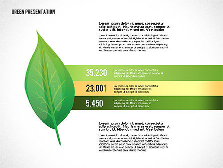 Green Presentation with Data Driven Charts, Slide 4, 02800, Infographics — PoweredTemplate.com