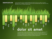 Green Presentation with Data Driven Charts#11