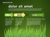 Green Presentation with Data Driven Charts#13