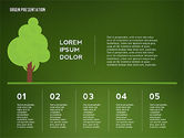 Green Presentation with Data Driven Charts#14
