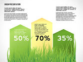 Green Presentation with Data Driven Charts#2