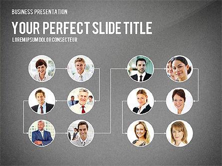 Company Structure Presentation, Slide 9, 02802, Organizational Charts — PoweredTemplate.com
