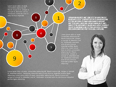 Social Business Network Themed Presentation, Slide 12, 02803, Presentation Templates — PoweredTemplate.com