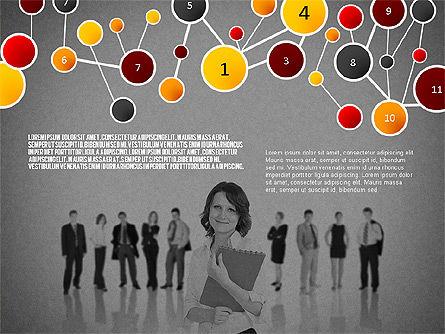 Social Business Network Themed Presentation, Slide 13, 02803, Presentation Templates — PoweredTemplate.com