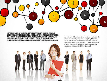 Social Business Network Themed Presentation, Slide 5, 02803, Presentation Templates — PoweredTemplate.com