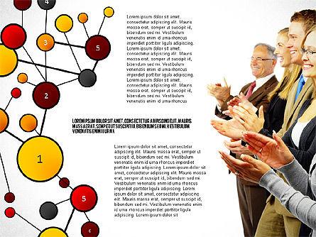 Social Business Network Themed Presentation, Slide 8, 02803, Presentation Templates — PoweredTemplate.com