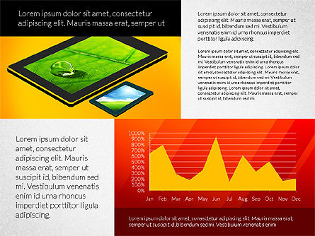 Touchpad Data Driven Presentation, 02806, Data Driven Diagrams and Charts — PoweredTemplate.com