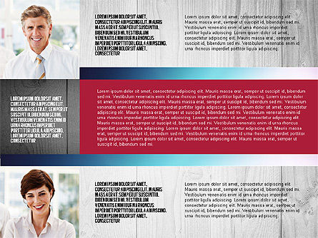 Presentation Templates: Teampräsentation im Rasterdesign-Layout #02807