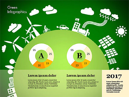 Green Infographic, Slide 4, 02808, Infographics — PoweredTemplate.com