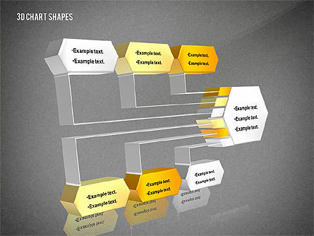 Process and Org 3D Charts Toolbox, Slide 12, 02811, Business Models — PoweredTemplate.com