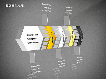 Process and Org 3D Charts Toolbox, Slide 13, 02811, Business Models — PoweredTemplate.com