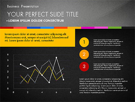 Business Presentation Template with Charts, Slide 13, 02812, Presentation Templates — PoweredTemplate.com