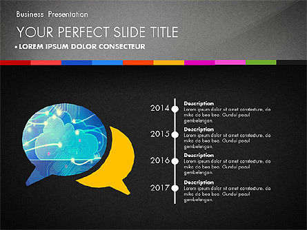 Business Presentation Template with Charts, Slide 14, 02812, Presentation Templates — PoweredTemplate.com