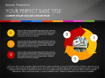 Business Presentation Template with Charts, Slide 15, 02812, Presentation Templates — PoweredTemplate.com