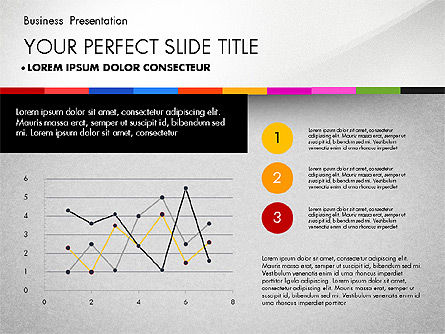 Business Presentation Template with Charts, Slide 5, 02812, Presentation Templates — PoweredTemplate.com