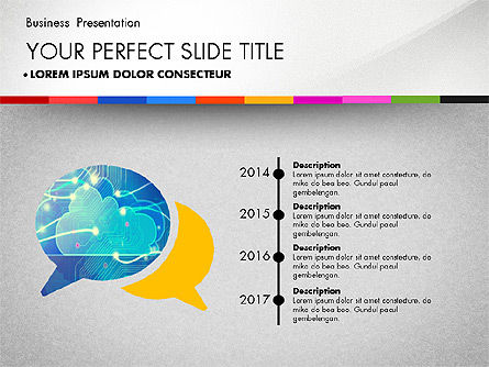Business Presentation Template with Charts, Slide 6, 02812, Presentation Templates — PoweredTemplate.com