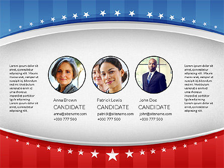 USA Election Results Presentation Template, 02813, Presentation Templates — PoweredTemplate.com