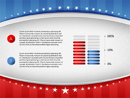 USA Election Results Presentation Template, Slide 6, 02813, Presentation Templates — PoweredTemplate.com