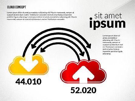 Cloud Services Process Presentation Template, Slide 3, 02815, Process Diagrams — PoweredTemplate.com