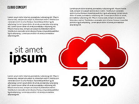 Cloud Services Process Presentation Template, Slide 4, 02815, Process Diagrams — PoweredTemplate.com