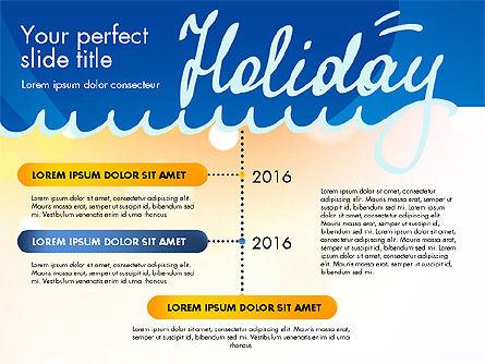 Holiday Concept Presentation Template, Slide 13, 02816, Presentation Templates — PoweredTemplate.com