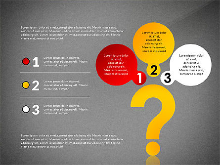 Questions Answers Solutions Presentation Concept, Slide 14, 02818, Process Diagrams — PoweredTemplate.com
