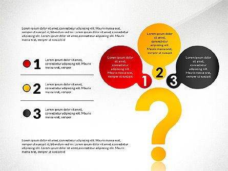Questions Answers Solutions Presentation Concept, Slide 6, 02818, Process Diagrams — PoweredTemplate.com