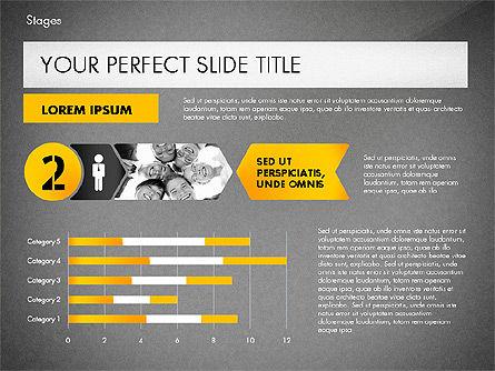 Stages Presentation Concept, Slide 11, 02819, Stage Diagrams — PoweredTemplate.com