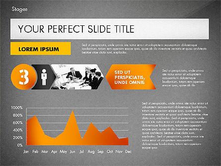 Stages Presentation Concept, Slide 13, 02819, Stage Diagrams — PoweredTemplate.com