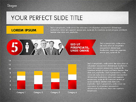 Stages Presentation Concept, Slide 16, 02819, Stage Diagrams — PoweredTemplate.com