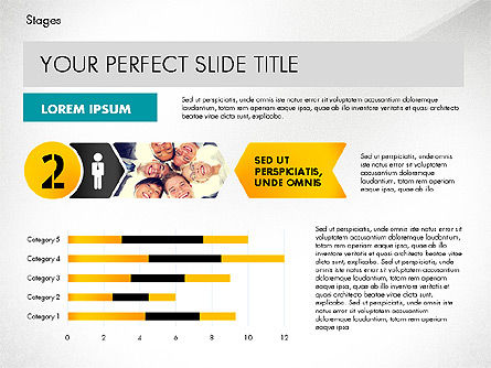 Stages Presentation Concept, Slide 3, 02819, Stage Diagrams — PoweredTemplate.com