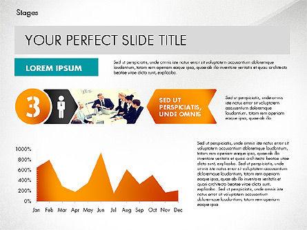 Stages Presentation Concept, Slide 5, 02819, Stage Diagrams — PoweredTemplate.com