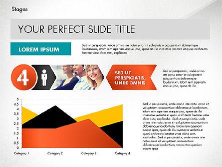 Stages Presentation Concept, Slide 7, 02819, Stage Diagrams — PoweredTemplate.com