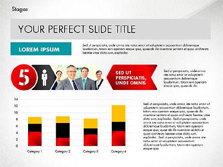 Stages Presentation Concept, Slide 8, 02819, Stage Diagrams — PoweredTemplate.com