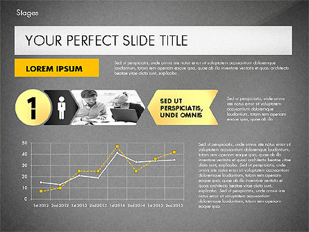 Stages Presentation Concept, Slide 9, 02819, Stage Diagrams — PoweredTemplate.com