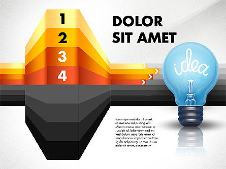 Idea Options and Stages, Slide 4, 02821, Stage Diagrams — PoweredTemplate.com