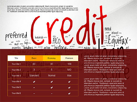 Credit Rating Presentation Template, 02824, Presentation Templates — PoweredTemplate.com