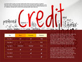 Presentation Templates: Credit Rating Presentation Template #02824