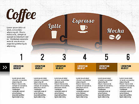 Coffee Bean Infographics, 02828, Infographics — PoweredTemplate.com