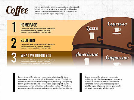 Coffee Bean Infographics, Slide 2, 02828, Infographics — PoweredTemplate.com